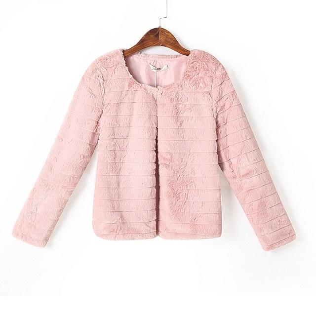 European fashion Women Winter elegant sweet pink O-neck ...