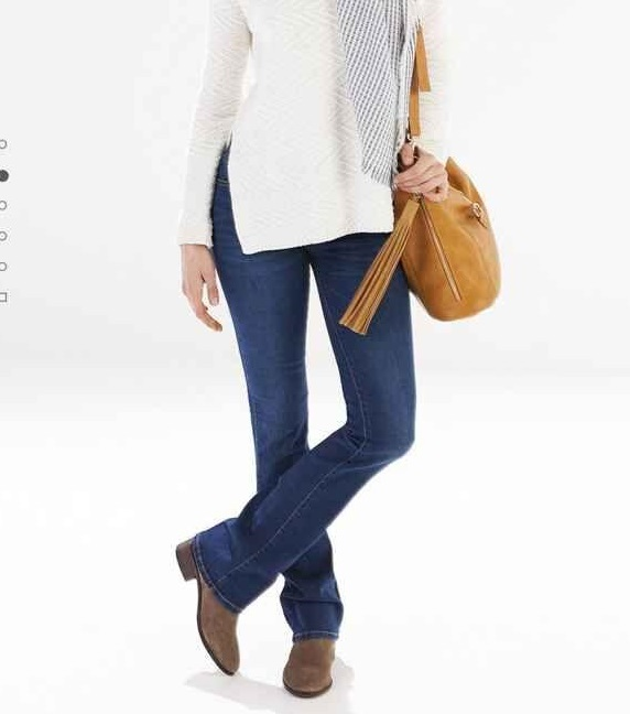 Fashion Autumn blue Denim Flare Jeans pants For Women ...