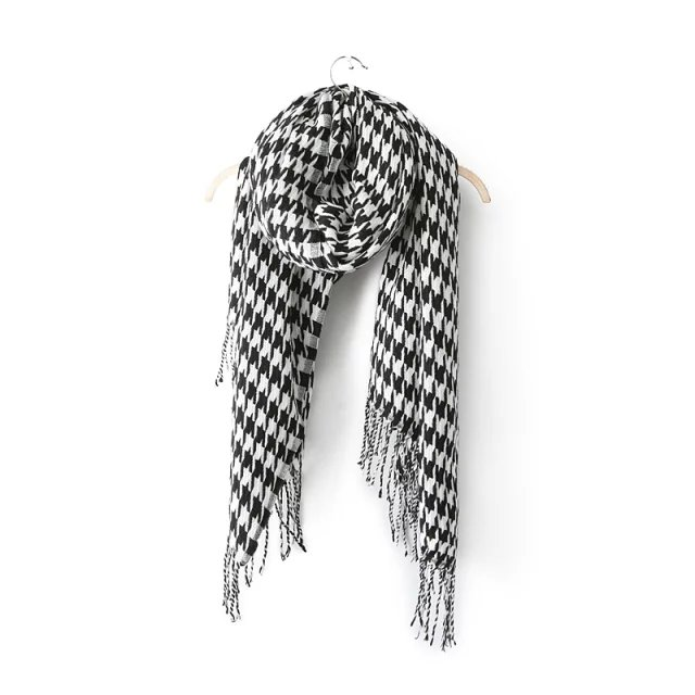 Fashion Korean Scarf For Women Winter Knitted plaid ...