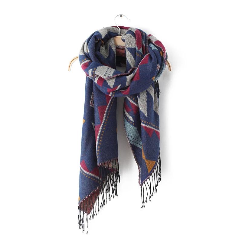 Fashion Scarf For Women Winter Acrylic Geometric Pattern ...