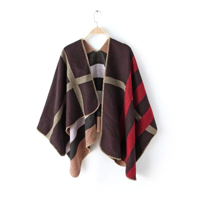 Fashion Scarf For Women Winter thick warm Acrylic Irregula ...