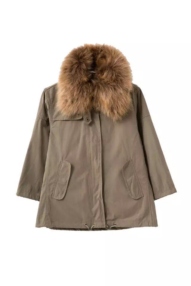Fashion Winter Jacket Women brown cotton Parkas Removable ...