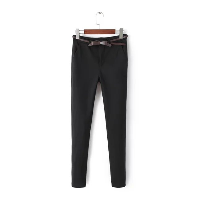 Fashion winter thick Office Lady Elegant Black Trouser ...