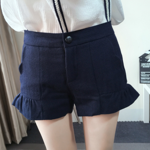 Fashion winter Women Elegant Blue woolen zipper pocket ...