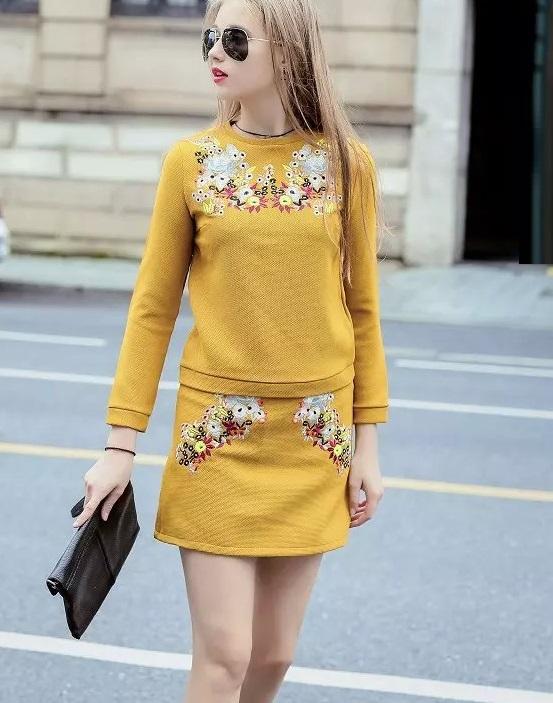 Fashion Winter Women Elegant floral Embroidery Blouse ...