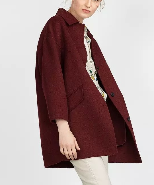 Fashion Winter Women Red Pockets Female overcoat Long ...