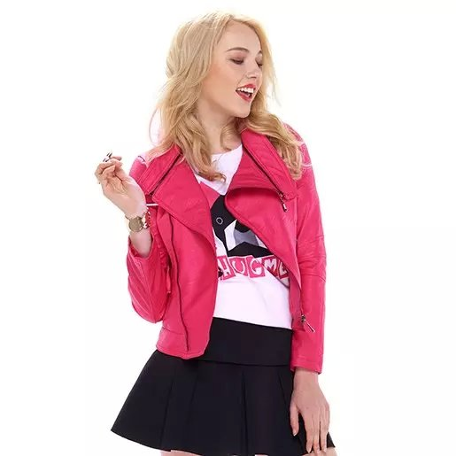 Fashion Winter Women rose Faux leather turn-down collar ...
