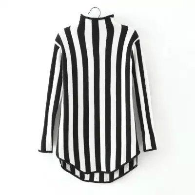 Fashion women American style winter Striped pattern ...