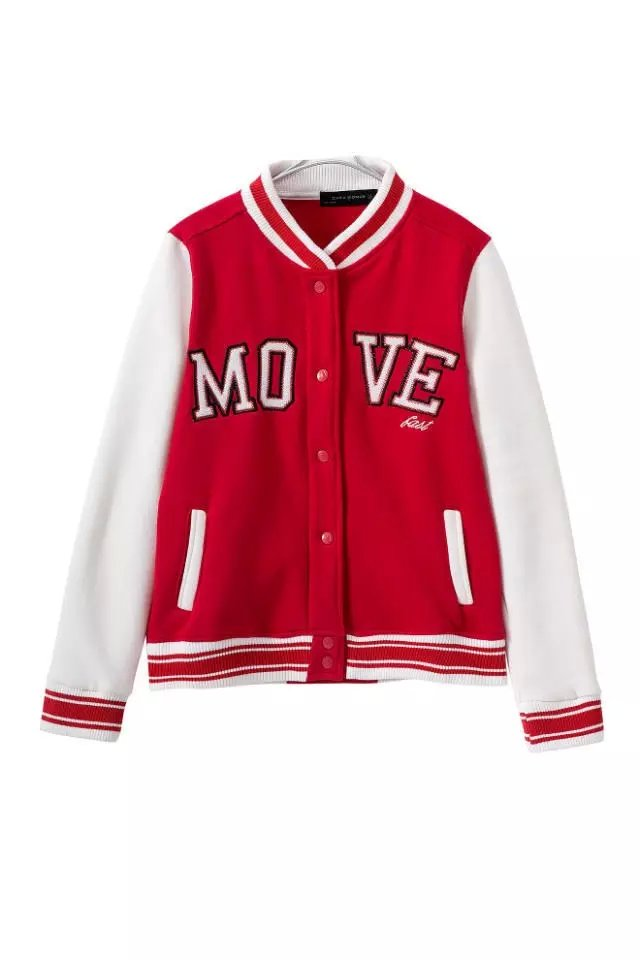 Fashion Women baseball Jacket Red Letter Embroidery ...