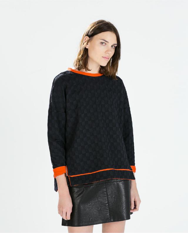 Fashion Women black Side Zipper pullovers Casual long ...