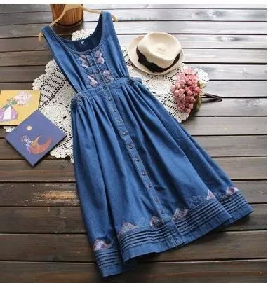 Fashion women blue denim Embroidery Designs Back bow ...