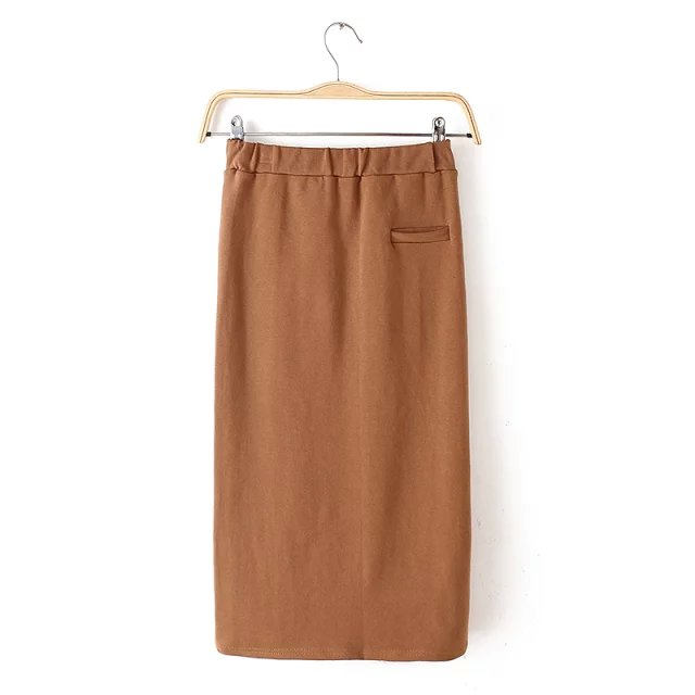 fashion women Brown business suit stretch skirts High ...