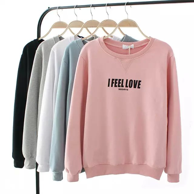 Fashion women elegant Autumn Letter print sport pullover ...
