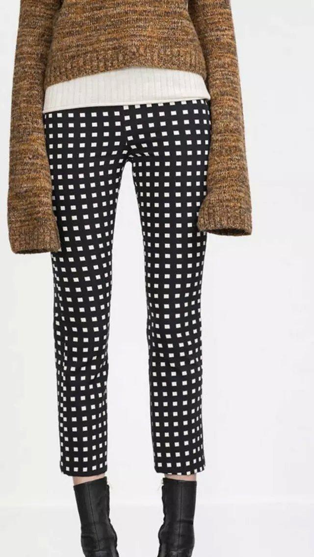 Fashion Women Elegant black Plaid Print zipper pockets ...
