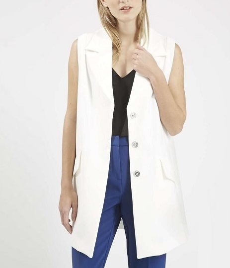 Fashion women Elegant Jacket Vests Sleeveless Turn-down ...