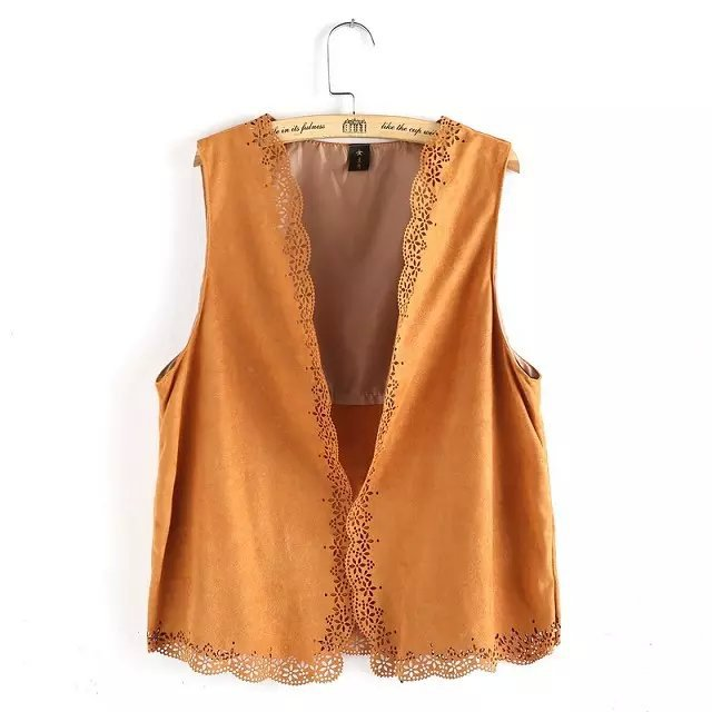 Fashion Women Elegant Sleeveless Vintage Hollow Out ...
