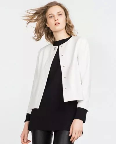Fashion women elegant White outwear button pockets Jacket ...