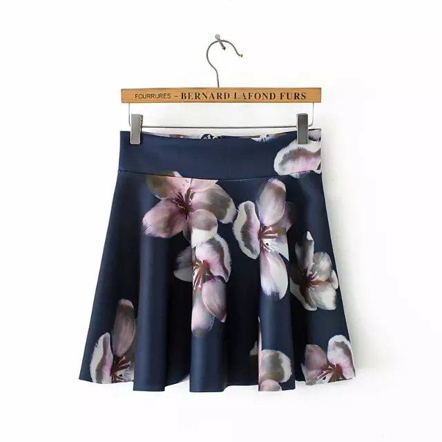 Fashion Women Elegant Winter blue Cotton floral Print ...