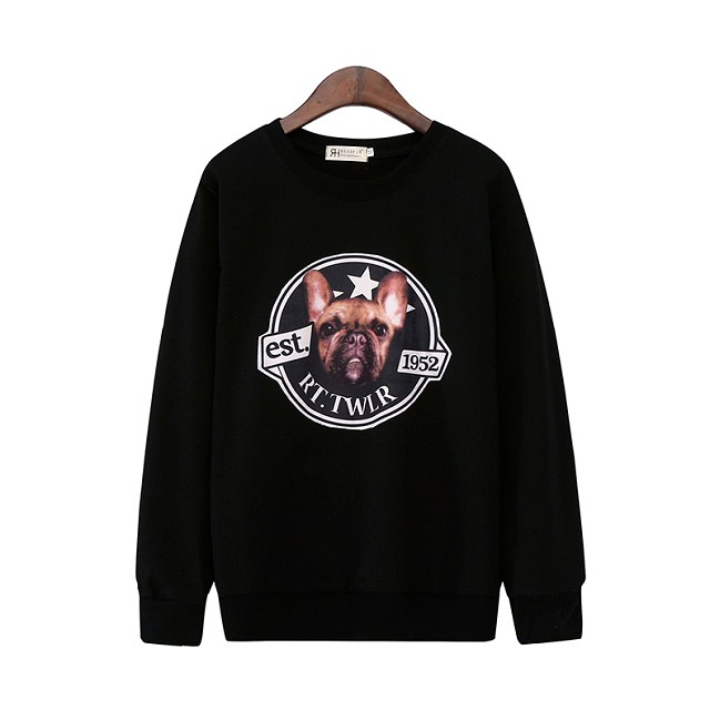 Fashion women Punk Style black Dog Letter Print Sport ...