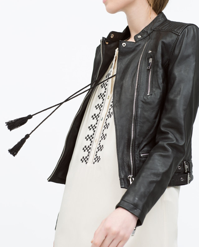 Fashion Women Punk style Cool black faux leather jacket ...