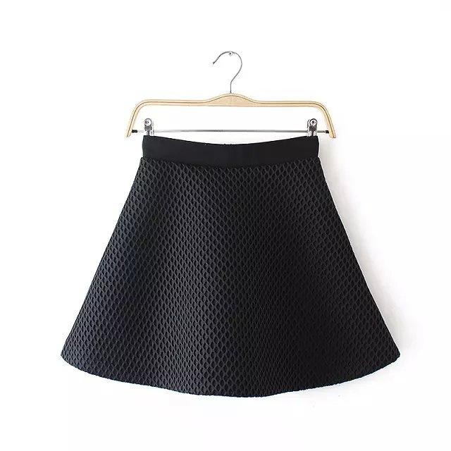Fashion Women sexy black Mesh Zipper Mini A-Line Skirt Casual casual brand designer skirts