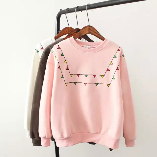 Fashion women sweatershirts winter thick school style ...