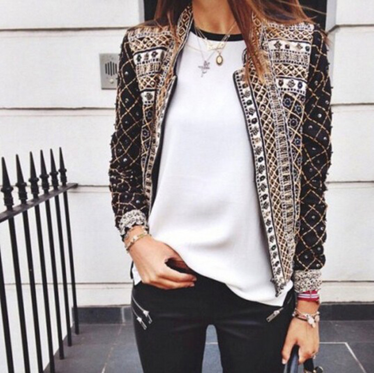 Fashion Women vintage Punk Style Plaid Print jacket ...