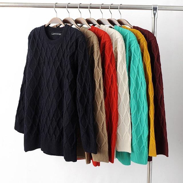 Fashion women winter Check pullover knitwear Casual ...
