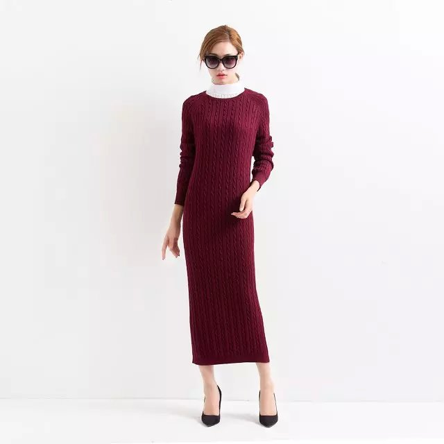 Fashion Women Winter Elegant red Knitted Packet Buttock ...