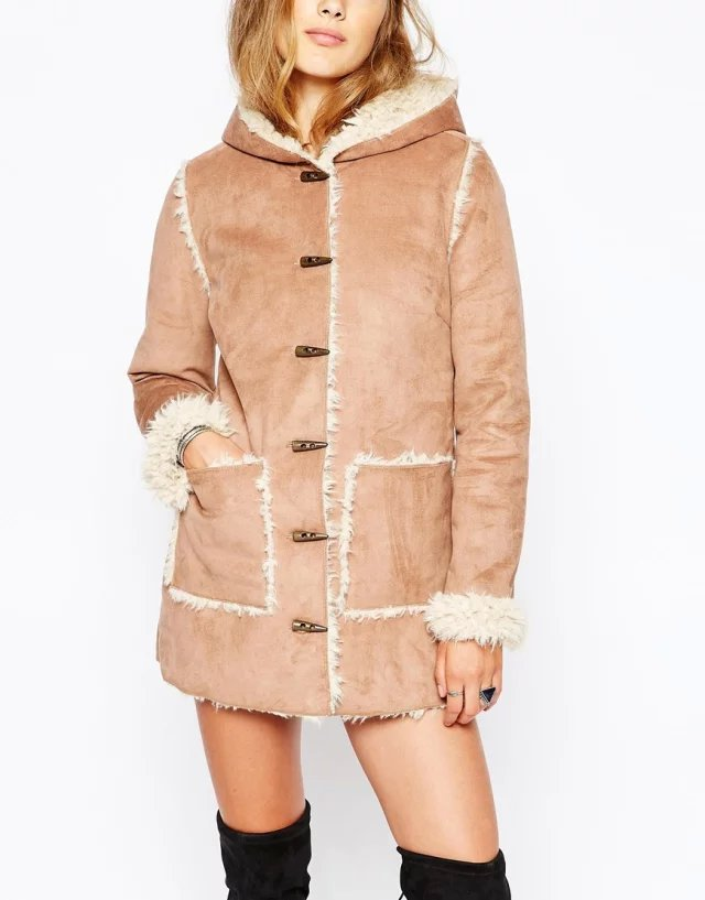 Fashion Women winter thick warm Faux Suede Leather fur ...
