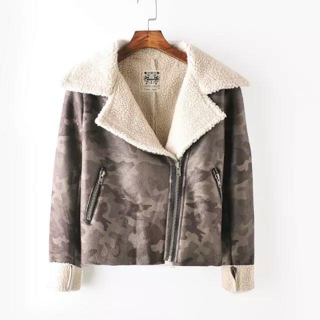 Fashion Women Winter Thick warm zipper Faux Suede Leather ...