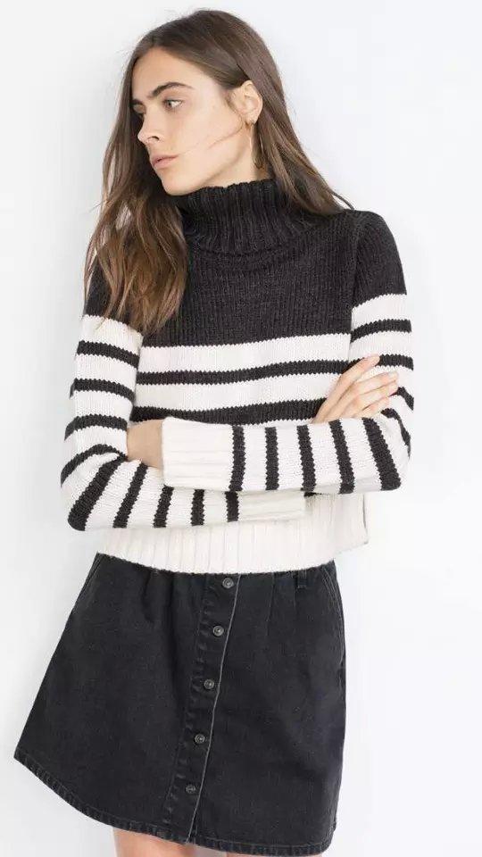 Fashion Women Winter warm striped pattern short Pullover ...