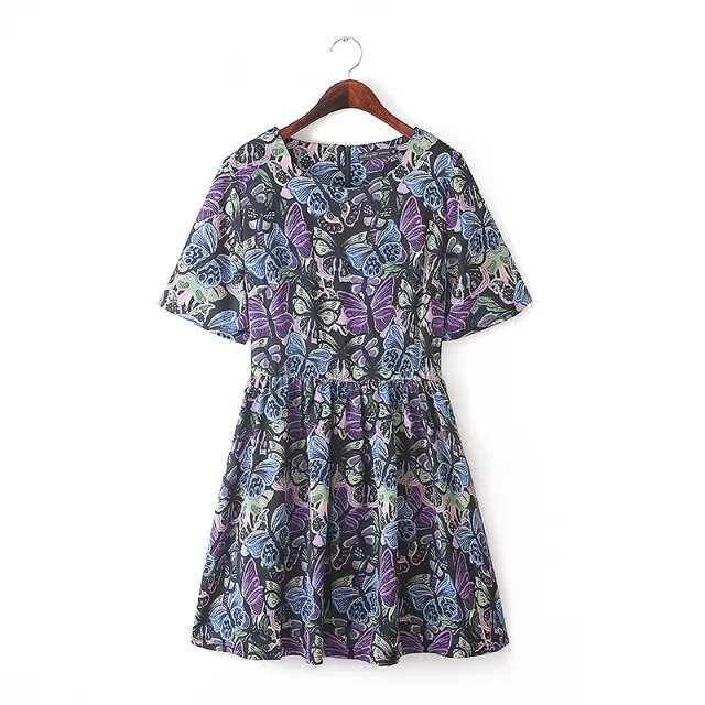 Fashion XXXL plus size Women Elegant floral Butterfly ...