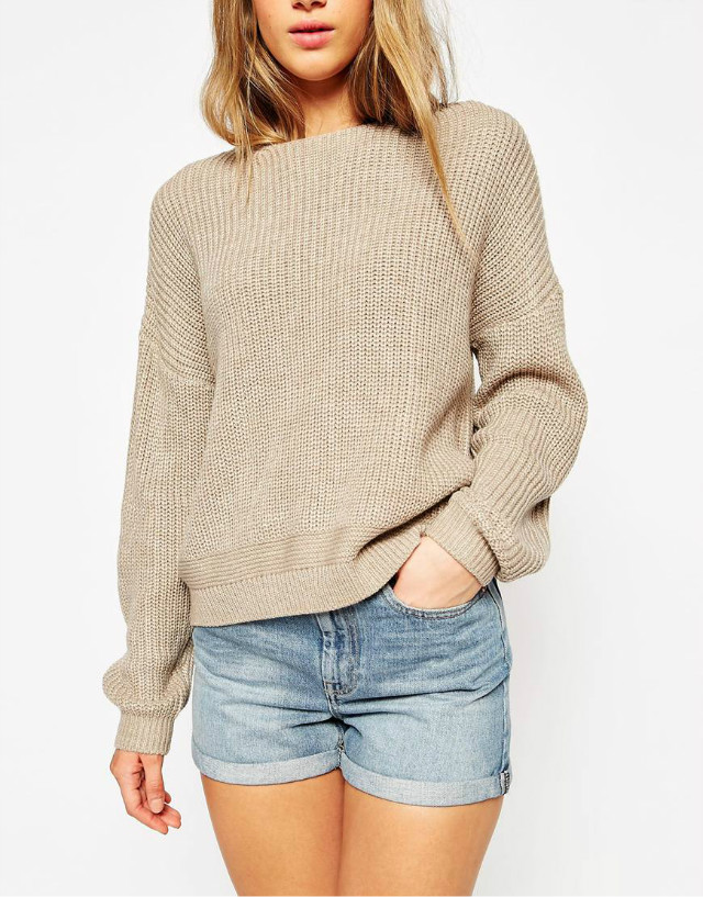 Knitted sweaters for women winter england Fashion Khaki ...