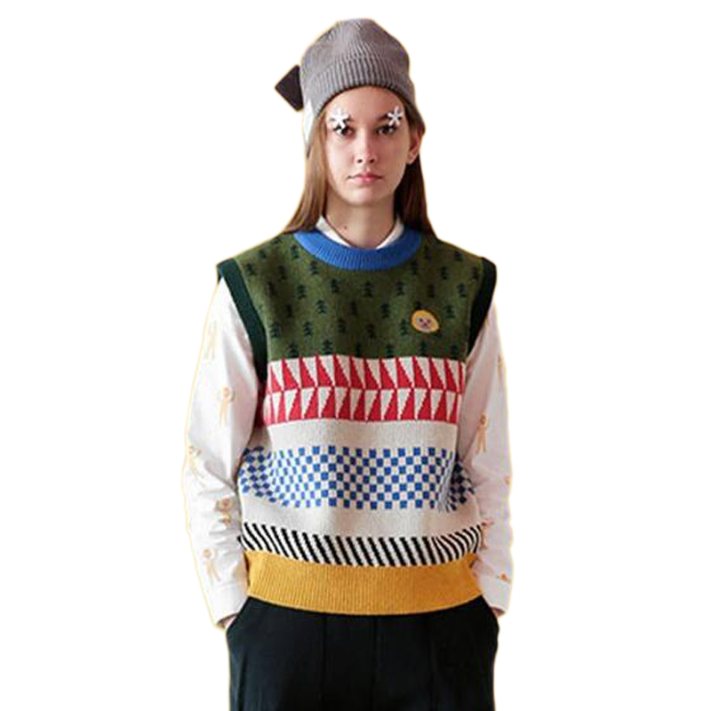 Knitted vest sweaters for women school style Winter ...