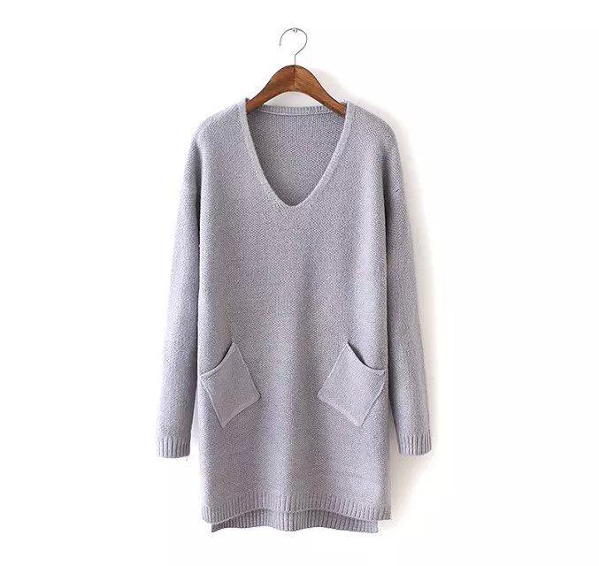 Knitting long Sweaters for women Autumn fashion Double ...