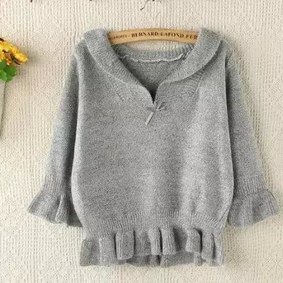 Knitting short Sweaters for women Autumn fashion Sweet ...
