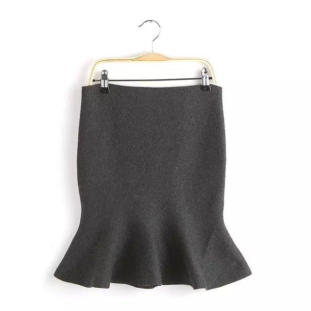 Knitting skirts for Women Vintage Autumn Fashion Fishtail ...