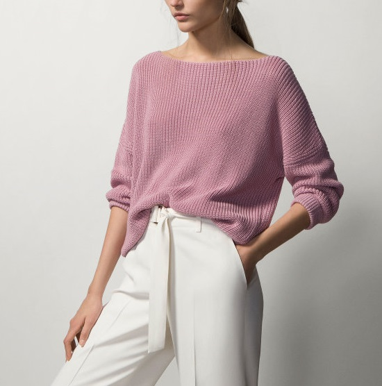 Knitting Sweaters for Winter women fashion Purple Brief ...