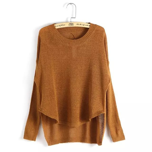 Knitting sweaters for Women Autumn Fashion back Hollow ...