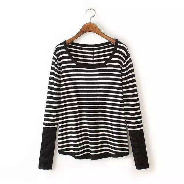 knitting sweaters for women Autumn Fashion Black white ...