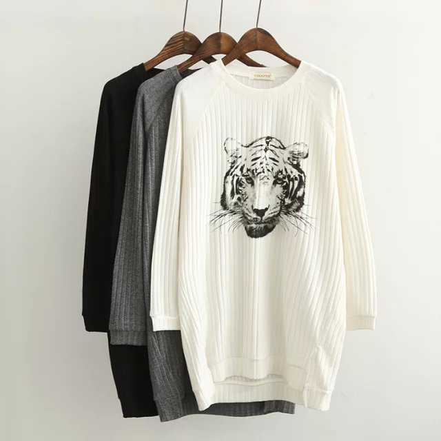 Knitting sweaters for Women Winter Fashion Tiger pattern ...