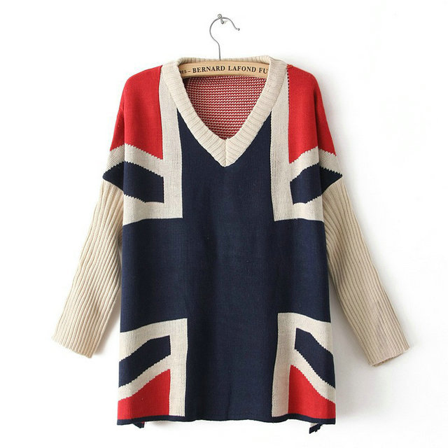New arrival Fashion Womens' Sweet navy and Red Batwing ...