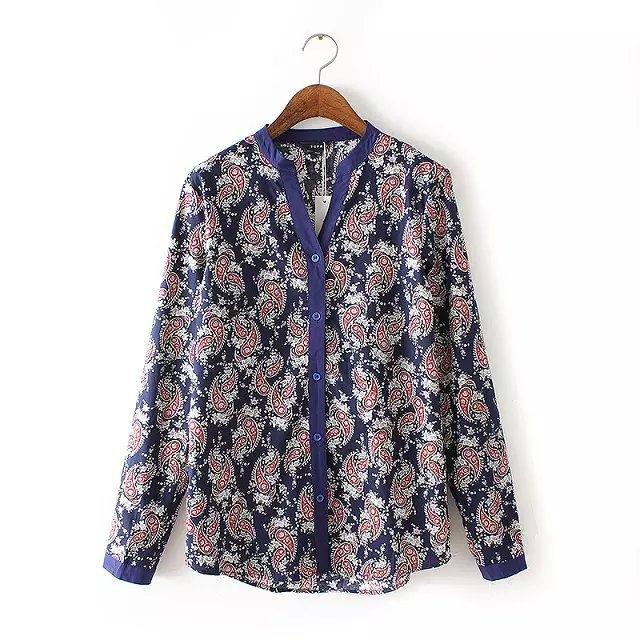 New Autumn Fashion Women Cotton vintage Floral Print ...