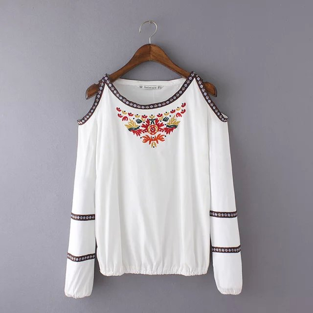 New Fashion Ladies' Elegant Embroidery T shirt for women ...