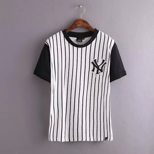 New Fashion women Baseball clothes Striped print Embroidery ...