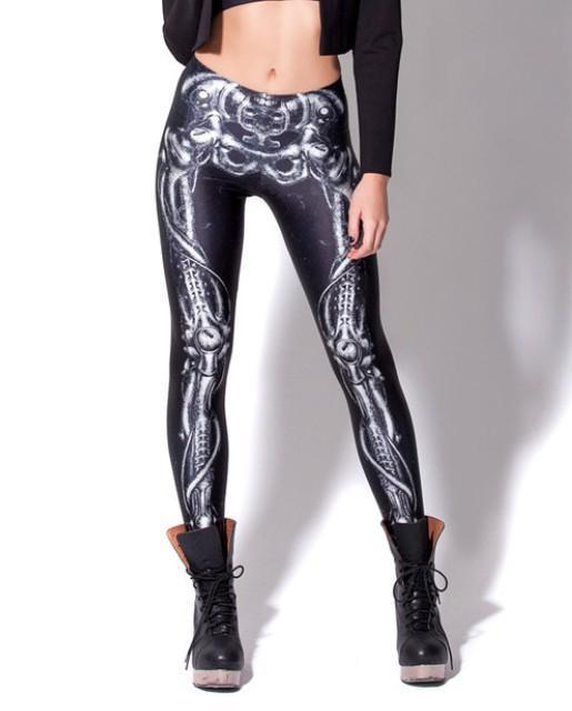 Sexy Leggings for Women Fashion Autumn White skeleton ...