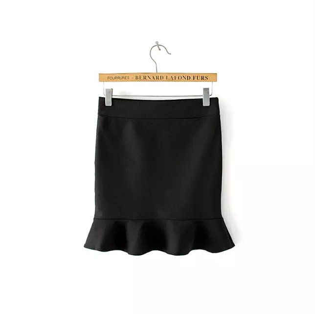 Skirts for Women Autumn Fashion sexy Black stratch Elastic ...
