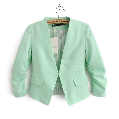 Spring Fashion Blazers for women Fold long sleeve suit ...