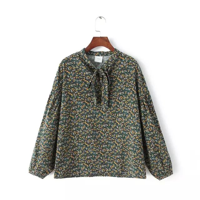 Spring korean Fashion women elegant vintage sweet green ...